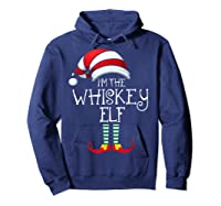 I'm The Whiskey Elf Family Matching Christmas Gift Group Shirts Hoodie Navy