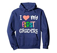 1st Grade Tea Love First Graders School Class Colorful Shirts Hoodie Navy