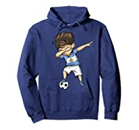 Dabbing Soccer Argentina - Argentinian Football Premium T-shirt Hoodie Navy