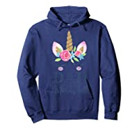 Unicorn Dad Of The Birthday Girl Matching Party Shirts Hoodie Navy