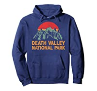 Vintage Death Valley National Park Sunset T Shirt Hoodie Navy