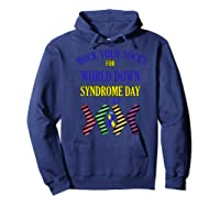 Rock Your Socks For World Down Syndrome Day Gift Shirts Hoodie Navy