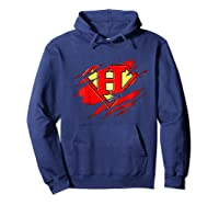 Birthday Gift Letter H Name Super Hero Accessories Apparel Shirts Hoodie Navy