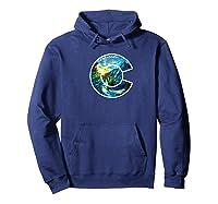 Colorado Mountain C Co Flag Graphic Design By Mcma Premium T-shirt Hoodie Navy