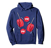 Yo-yo Shirt Yoyo Ball T-shirt Gift Hoodie Navy