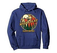 Vintage Myers Flat California Mountain Hiking Souvenir Print T-shirt Hoodie Navy