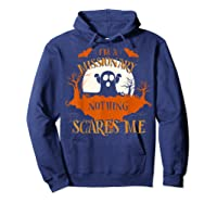 Missionary Nothing Scares Me Funny Halloween T-shirt Hoodie Navy