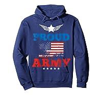 Proud Army American Soldier Air Flag Honor Gift T-shirt Hoodie Navy