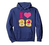 Cute I Heart Love Peanut Butter And Jelly Kawaii Shirts Hoodie Navy