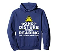 Drinking Beer Lovers Funny Book Reading T-shirt Hoodie Navy