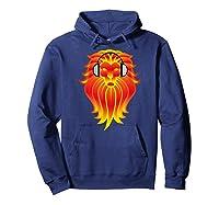 Lion Head Golden Head Phones Shirts Hoodie Navy