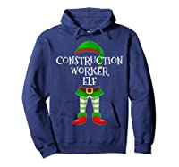 Construction Worker Elf Matching Family Christmas Design Shirts Hoodie Navy
