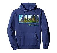 Retro Classic Vintage Summer Kauai Hawaii Shirts Hoodie Navy