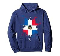 Dominican Republic Flag Inside Dominicana Republica Pride Shirts Hoodie Navy