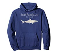 Retro South Padre Island Tx Shark T-shirt Hoodie Navy