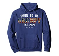 Soon To Be Grumpy Est 2020 American Flag For New Dad Gift Shirts Hoodie Navy