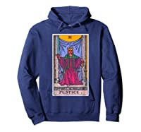 Justice Tarot Card Psychic Occult Metaphysical Shirts Hoodie Navy