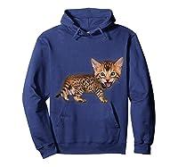 Cat Caricature - Funny Domestic Bengal Cat Kitten Tshirt Hoodie Navy