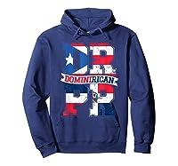 Dominirican Puerto Rico And Republica Dominicana Pride Shirts Hoodie Navy