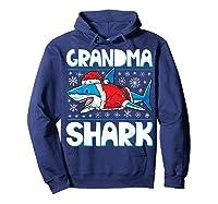 Grandma Shark Santa Christmas Family Matching S Shirts Hoodie Navy