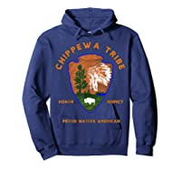 Chippewa Tribe Native American Indian Pride Respect Honor T-shirt Hoodie Navy