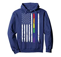 Police Support Lgbt Gay Pride Thin Red Line Rainbow Flag Fun T-shirt Hoodie Navy