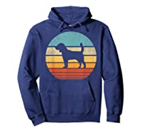 Beagle Retro Vintage Style 60s 70s Gifts Dog Lover Shirts Hoodie Navy