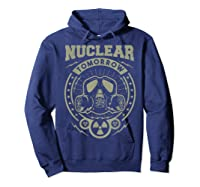 Nuclear Fallout - T-shirt Hoodie Navy