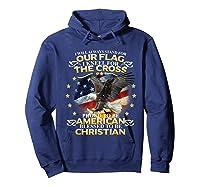 Christian Patriotic American Flag Shirts Hoodie Navy