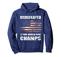 Undeted 2 Time World War T Shirt 4th Of July Shirts Gifts T-shirt Hoodie Navy