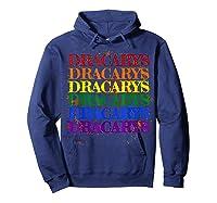 Dracarys Dragon Lovers Rainbow Lgbt Flag Gay Pride Lesbian T-shirt Hoodie Navy