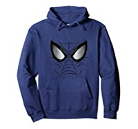 Marvel Spider-man Web Face Graphic T-shirt Hoodie Navy