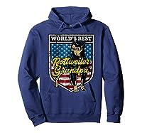 Worlds Best Rottweiler Grandpa Shirts Hoodie Navy