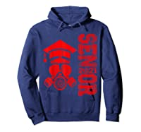Vintage Senior 2021 Face Mask Quarantined Class Of 2021 Shirts Hoodie Navy
