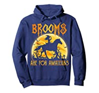 Halloween Brooms Are For Amateurs Horse Riding Shirts Hoodie Navy