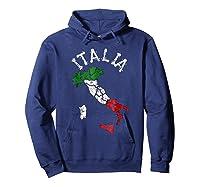 Italia Italian Flag Italy Shirts Hoodie Navy