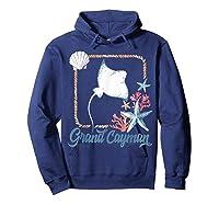 Grand Cayman Islands Turtle Tuna Stingray Blue Souvenir Gift T-shirt Hoodie Navy