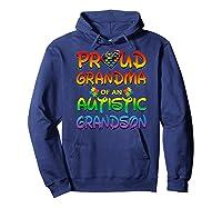 Autism Awareness Proud Grandma Of Autistic Grandson Shirts Hoodie Navy