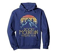 Vintage Rocky Mountains National Park Colorado Retro Shirts Hoodie Navy