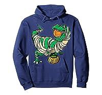 Funny Basketball Player T Rex Dinosaur Halloween Costume T-shirt Hoodie Navy