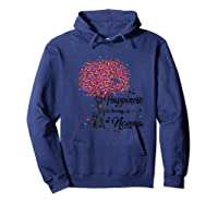 Happiness Is Being A Nonna Tshirt Cute Mother\\\'s Day Gifts T-shirt Hoodie Navy
