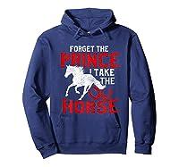 Rider Prefers Horses Shirts Hoodie Navy