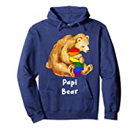 Papi Bear Proud Dad Lgbt Gay Pride Lgbt Dad Gifts Shirts Hoodie Navy