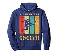 Retro Vintage Soccer Design 1970s T-shirt Hoodie Navy