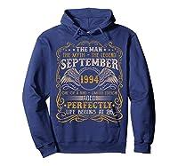 September 1994 Man Myth Legend 26th Birthday 26 Years Old Shirts Hoodie Navy