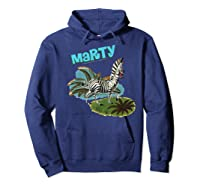 Madagascar Marty Painted Grass Poster Premium T-shirt Hoodie Navy