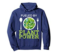 Fueled By Plant Power Vegetarian Shirts Hoodie Navy