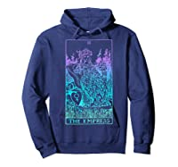 The Empress Tarot Card Rider Waite Witchy Shirts Hoodie Navy