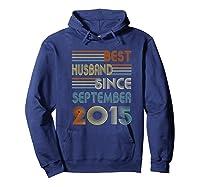 5th Wedding Anniversary Gift Husband Since September 2015 Shirts Hoodie Navy