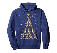 Dabbing Kangaroo Christmas Dab Christmas Tree Shirts Hoodie Navy